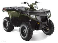 AVAILABLE IN GREEN/RED The Polaris Sportsman 500 H.O.