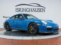 This 2011 GT3 RS in Paint to Sample Oslo Blue is truly