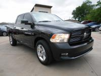 2011 BLACK DODGE RAM 1500 2WD CREW CAB SWB SLT . LOADED