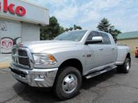 2011 DODGE RAM 3500 LARAMIE 4X4 MEGA CAB DUALLY WITH