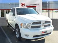 Clean CARFAX. Bright White Clearcoat 2011 Ram 1500