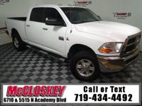 Low miles 2011 Ram 2500 SLT Crew Cab offering 4x4,