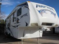 2011 Raptor 35 2011 Raptor 35 Fifth Wheel Toy Hauler by