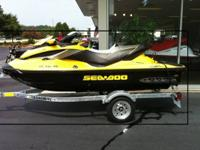 2011 Sea Doo RXT Jet Ski with trailer. It has a 4