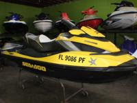 FOR SALE NICE LIKE NEW JET SKI 2011 SEADOO RXT260iS,