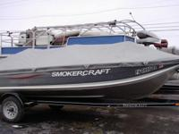 2011 SmokeCraft 9.9 mercury motor stick steer. live