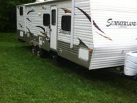 30 ft camper. 2 double bunks, queen bed, full bed