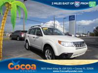This 2011 Subaru Forester 2.5X in White features: Clean