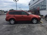 2011 Subaru Forester 2.5X in Paprika Red Pearl with