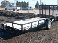Sure Trac : 7x14 utility trailer for sale, rear drop