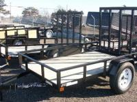Sure Trac : 5x8 Utility trailer for sale, treated wood