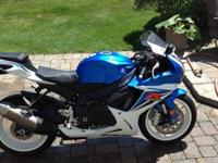 2011 Suzuki GSX-R 600. This bike is like new with only