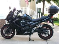 2011 Suzuki GSX1250FA ABS - beautiful all black fully