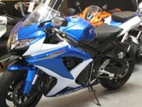 '11 Suzuki GSXR600, with 9,040 miles. Electronic