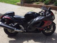 This suzuki hayabusa is a lovely bike, you will
