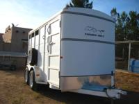 Two Horse slant horse trailer. Step up.7 ft tall 6 ft