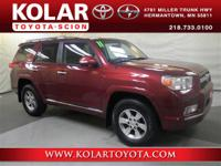 4Runner SR5 4x4, 4WD, and Local Trade-in. Convenience