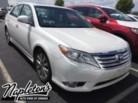 Recent Arrival! 2011 Toyota Avalon in White, 6-Speed