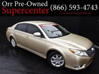 2011 Toyota Avalon Sedan Our Location is: Orr Preowned