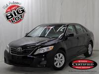 Camry LE, Toyota Certified, Black, Alloy tires, and One