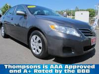 TOYOTA CERTIFIED! 2011 Toyota Camry LE Sedan. Qualifies