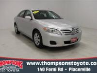 This Classic Silver Metallic 2011 Toyota Camry is