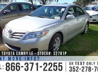 2011 Toyota Camry LE Features: Alloy wheels - Powered