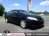 Clean CARFAX. Black 2011 Toyota Camry LE FWD 6-Speed