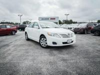 Clean CARFAX. Super White 2011 Toyota Camry LE FWD