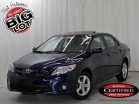 Corolla LE, Toyota Certified, Nautical Blue Metallic,