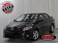 Corolla S, Toyota Certified, 4-Speed Automatic, Black