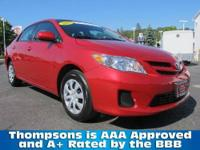 TOYOTA CERTIFIED! 2011 Toyota Corolla LE