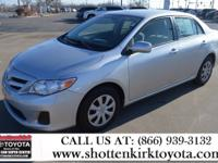 Corolla LE, Toyota Certified, 1.8 L FWD, ABS brakes,