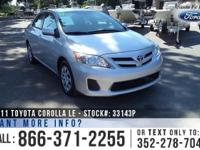 2011 Toyota Corolla LE. *** Still under Warranty ***.