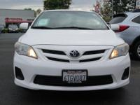 Options:  2011 Toyota Corolla Le Sedan|White/|V4 1.8L