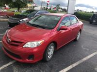 CARFAX One-Owner. Barcelona Red Metallic 2011 4D Sedan