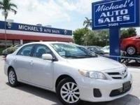 Options:  2011 Toyota Corolla Le|Silver|**99 Point
