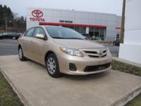 ONE OWNER!! 2011 TOYOTA COROLLA LE!! FUEL EFFICIENT