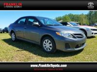 CARFAX One-Owner. 2011 Toyota Corolla LE FWD 4-Speed