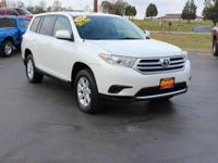 Clean CARFAX. This 2011 Toyota Highlander in Blizzard