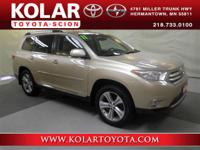 Highlander Limited, AWD, ONE Owner Per AUTO CHECK