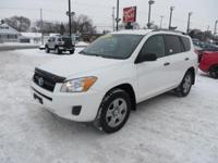This 2011 Toyota RAV4 is a midsize crossover SUV