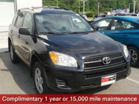 Clean CARFAX. Black 2011 Toyota RAV4 4WD 4-Speed