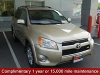 Clean CARFAX. Sandy Beach Metallic 2011 Toyota RAV4