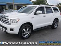 Toyota Sequoia 4WD V8 FlexFuel in White over Black
