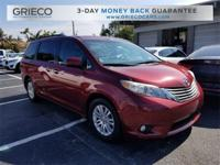 Recent Arrival! 2011 Toyota Sienna Base Red CARFAX