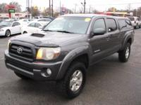 The Toyota Tacoma is a mid-sized truck. Some specs are