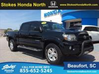 2011 Toyota Tacoma in Black. 4.0L V6 SMPI DOHC and 4WD.