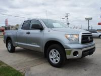 Toyota Certified, 4D Double Cab, Silver, Cloth, CARFAX