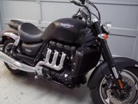 2011 Triumph Rocket 3 in matte black. This bike has